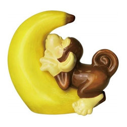 Westland - 3.5 Inch Monkey Sleeping on Big Banana Salt and Pepper Shakers - This gorgeous 3.5 Inch Monkey Sleeping on Big Banana Salt and Pepper Shakers has the finest details and highest quality you will find anywhere! 3.5 Inch Monkey Sleeping on Big Banana Salt and Pepper Shakers is truly remarkable.