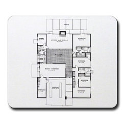 Eichler Floor Plan Mouse Pad - This mouse pad is a personal favorite and a nod to the work I'm doing while at the computer!