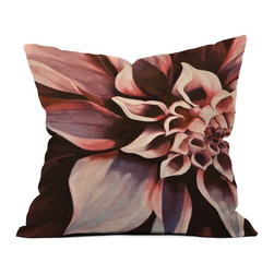 DENY Designs - DENY Designs John Turner Jr Flower Outdoor Throw Pillow - 12946-OTHRP18 - Shop for Cushions and Pads from Hayneedle.com! Your backyard is in bloom in any season when it's home to the DENY Designs John Turner Jr Flower Outdoor Throw Pillow. Crafted with water- and mildew-proof woven polyester this plush pillow boasts a giant unfolding rose in shades of pink and deep red. Toss it on your favorite chair or lounger indoors or out. Spot clean with mild detergent. Available in 18- and 20-in. sizes.About DENY DesignsDenver Colorado based DENY Designs is a modern home furnishings company that believes in doing things differently. DENY encourages customers to make a personal statement with personal images or by selecting from the extensive gallery. The coolest part is that each purchase gives the super talented artists part of the proceeds. That allows DENY to support art communities all over the world while also spreading the creative love! Each DENY piece is custom created as it's ordered instead of being held in a warehouse. A dye printing process is used to ensure colorfastness and durability that make these true heirloom pieces. From custom furniture pieces to textiles everything made is unique and distinctively DENY.