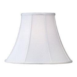 Livex Lighting Inc - Livex Silk Lamp Shade White Shantung Silk Bell Shade -S506 - Washer Top Fitter