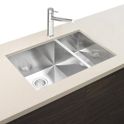 "Blanco - BLANCO 516213 Blanco Precision Bowl - Exceptionally handcrafted from a single sheet of premium quality , our 1-1/2"" bowl design is more than just a sink. With its precision, aesthetics and finely crafted details, it s more like a work of art."