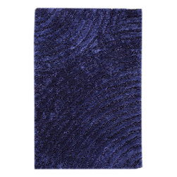 """MAT Orange Tweed Blue Rug - 5'2""""x7'6"""" - The rugs in this collection are all inspired by urban lanandscapes, making way for a statement where texture, shape, and line are the form. The rug's texture and the marriage of colors speak to the contemporary room. """"It is the art piece on the floor.  Because of the artistic quality ofThe rugs they are easily used in modern as well as traditional interiors. Pile Height:1.  Inches"""