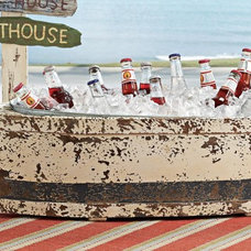 Tropical  Wood Boat Cooler