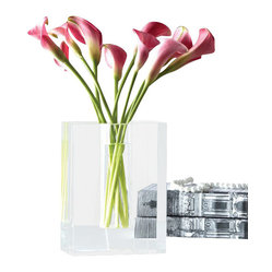 Dixon Crystal Block Vase (Pack of 2)