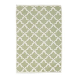 Marlo Jacquard Hand Towel, Sage Green - Jacquard weaving patterns both sides of these towels with a Moroccan tile motif. Woven of organic cotton to a 600-gram weight, they're extremely absorbent and plush. Made of 100% organic cotton. Ultraplush 600-gram weight. Oeko-Tex certified. Yarn dyed for vibrant, lasting color. Machine wash. Made in Turkey.