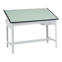 "Safco - Safco 60""x 37.5"" Precision Drafting Table Top - Safco - Drawing Tables - 3952 - Removable drafting board for use with Safco Model 3962GR Precision Table. Constructed of durable 3/4"" melamine in Green."