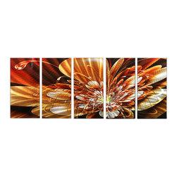 Matthew's Art Gallery - Metal Wall Art Abstract Modern Contemporary Sculpture Wall Decor Bronze Flower - Name: Bronze Flower