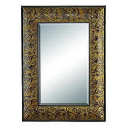 Benzara - Metal Mirror - METAL MIRROR is an excellent anytime low priced wall decor upgrade option that is high in modern age decor fashion. It is beautifully sculptured by the experienced artists.