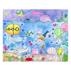 Oh How Cute Kids by Serena Bowman - Deep Sea Diving, Ready To Hang Canvas Kid's Wall Decor, 8 X 10 - Each kid is unique in his/her own way, so why shouldn't their wall decor be as well! With our extensive selection of canvas wall art for kids, from princesses to spaceships, from cowboys to traveling girls, we'll help you find that perfect piece for your special one.  Or you can fill the entire room with our imaginative art; every canvas is part of a coordinated series, an easy way to provide a complete and unified look for any room.