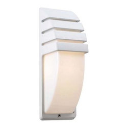 PLC Lighting - PLC Lighting Outdoor Lighting. 1-Light Outdoor White Wall Sconce with Matte Opal - Shop for Lighting & Fans at The Home Depot. Contemporary Beauty is a line of quality new age fixtures that appeal to your more affluent side. This line is sure to universally please by offering fixtures with halogen, CFL, or standard incandescent bulbs. With a selection that ranges from unique wall sconces to luxuriant chandeliers, available in the lamp options you desire, Contemporary Beauty has the variety and style to ensure you will find the perfect fixture to showcase the allure of any room.