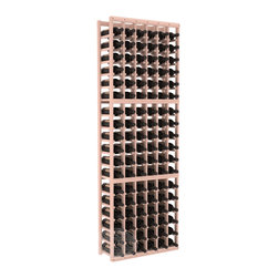 6 Column Standard Cellar Kit in Redwood with White Wash Stain + Satin Finish - Six columns for bottle storage is a perfect solution for 9 cases of wine. The modular format ensures you can expand storage without worrying about new racks lining up properly. We construct every rack to our industry-leading standards. You'll love our racks. Guaranteed.
