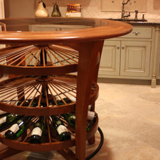 Contemporary Indoor Pub And Bistro Tables by Revel Custom Wine Cellars