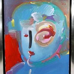 Peter Max, Zero in Blue, Painting - Artist:  Peter Max, German/American (1937 - )