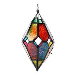 Marquis Glass Lantern - I need a few of these colorful lanterns hung in my patio for a splash of color.