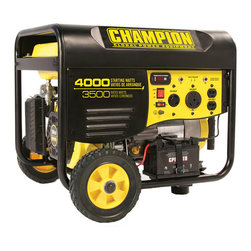 Champion - Champion 3500 Watt Portable Generator with Remote Electric Start & RV Outlet - For standby power during an emergency,you can't beat the dependability and performance of this 3500-watt portable Champion generator. It features a remote electric start and holds four gallons of fuel for hours of uninterrupted use.