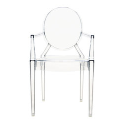 Kartell - LouLou Ghost Chair, Set of 4, Transparent Crystal - Designed by Philippe Starck.