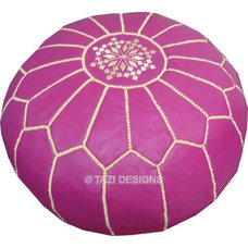 Floor Pillows And Poufs Magenta Moroccan Pouf
