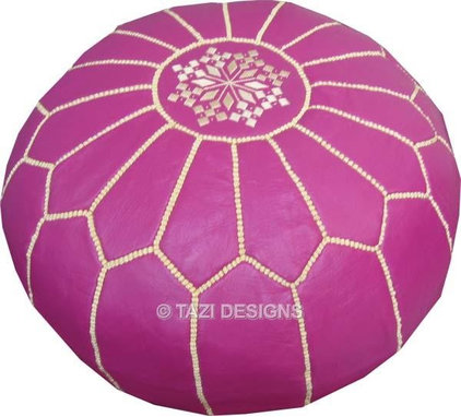 accessories and decor Magenta Moroccan Pouf