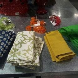 Dinnerware Napkins,Patterned Napkins & Napkin Rings - Some new tableware!!! napkins $5.25 each for patterned and $4.50 for solid and napkin rings $3.75 each