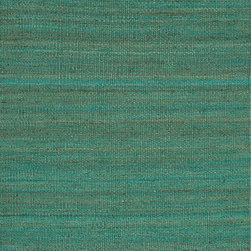 Jaipur Rugs - Flat Weave Solid Pattern Blue Hemp/Jute Handmade Rug - RG03, 2x3 - The Rugged collection offers a range of hand woven jute fringed rugs in different solid colour options. The weave is textural, rustic and chunky. The rugs are very durable and also reversible making them easy to use.