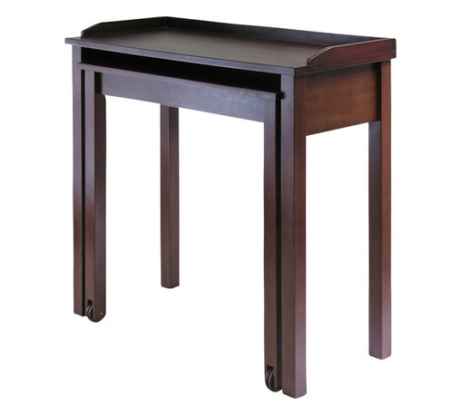 Winsome - Winsome Kendall Expandable Pull Out Computer Desk in Antique Walnut - Winsome - Computer Desks - 94235