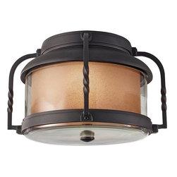 Murray Feiss - 2 Bulb Textured Black Outdoor Lighting - - ETL Damp Approved.