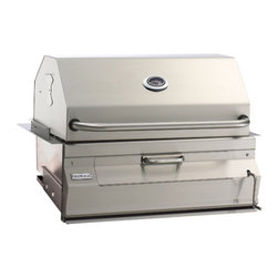 Fire Magic - Legacy 12SC01CA Built In Charcoal Grill with Smoker Oven/Hood - Legacy Built In Charcoal Grill with Smoker Oven/HoodCharcoal Built-In Features:All 304 Stainless Steel construction