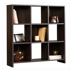 Sauder - Sauder Beginnings 9 Cubby Storage Organizer in Cinnamon Cherry Finish - Sauder - Bookcases - 413047 -