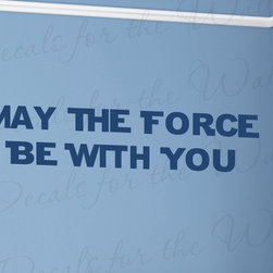 Decals for the Wall - Wall Decal Art Vinyl Quote Sticker Large May The Force Be With You Star Wars I80 - This decal says ''May the force be with you''