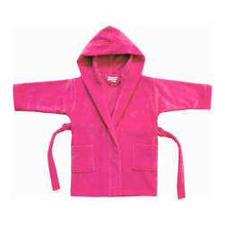 RR - Kids Velour Terry Cover-Up in Hot Pink - Kids Velour Terry Cover-Up in Hot Pink