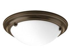 Progress Lighting - Progress Lighting Eclipse Close-to-ceiling with Satin White, Antique Bronze X-BE - Progress Lighting Eclipse Close-to-ceiling with Satin White, Antique Bronze X-BE02-9843P