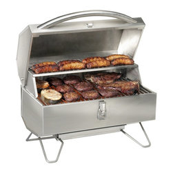 Napoleon - Napoleon Freestyle Portable Propane Infrared Grill - PTSS215PI Multicolor - PTSS - Shop for Grills from Hayneedle.com! The product specialists at Hayneedle have been extensively trained by the manufacturer of Napoleon grills. These specialists know the product inside and out top to bottom front to back. They're here to help you with every step of your Napoleon grill purchasing process. Learn everything you need to know as you customize your grill island with drawers doors pizza ovens and more! Call 866-579-5183 to speak with a product specialist and start building your dream grill island today. Hours: Monday-Friday 9 a.m.-7 p.m. E.T. Like all portable grills the Napoleon PTSS215PI Freestyle Propane Grill is lightweight compact and great for tailgating and trips to the great outdoors but it has something other compact grills don't: infrared technology. The infrared burner conserves more fuel and cooks faster than typical tube burners sealing in juices for a restaurant-style sear. This heavy-duty stainless steel grill features a tightly sealed wind-resistant lid that won't budge in the parking lot or at the lake. A tube burner and sear plate produce a consistent heat and reduce flare-ups and foldable legs and a lockable lid make it easy to store. If you're a sports fanatic or someone who loves the outdoors as much as the aroma of a sizzling bratwurst you'll never go to another gathering without this handy propane grill. Additional Information Ceramic infrared burner and sear plate Folding stainless steel legs Electronic ignition Lid features a lockable latch Uses a 1 lb. propane cylinder (sold separately) With a 4-foot hose (sold separately) can adapt to a 20 lb. tank About Napoleon GrillsRising up from its humble beginnings in Barrie Ontario Canada Napoleon Gourmet Grills has become North America's largest privately owned manufacturer of top-of-the-line wood and gas fireplaces gourmet gas and charcoal grills waterfalls and outdoor living products. It all started 1976 when Wolfgang Schroeter started manufacturing steel railings. His designs proved to be a great success and soon enough he was producing an original stove with a solid cast iron two-door design in a 1 000 square foot facility. And over the past 30 years his company Wolf Steel Ltd's dedication to innovative patented technology has lead to the exclusive infrared grilling experience and two new departments: Napoleon Fireplaces and of course Napleon Gourmet Grills. Today this company operates with over 500 000 square feet and over four-hundred hard workers in its employ.