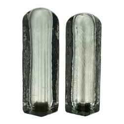 Lavish Shoestring - Consigned Glass Salt and Pepper Shakers, Vintage English, 1970s - This is a vintage one-of-a-kind item.