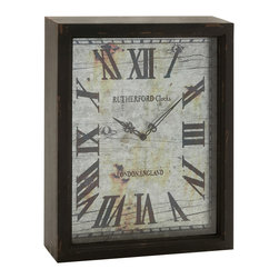 Lovely and Rustic Wood Wall Clock - Description: