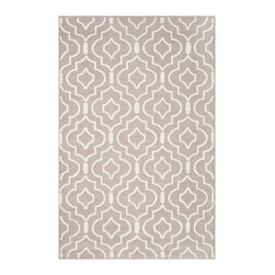 Safavieh - Safavieh Contemporary Handmade Moroccan Cambridge Beige/ Ivory Wool Rug (4' x 6' - Safavieh's Cambridge collection is inspired by timeless contemporary designs crafted with the softest wool available.