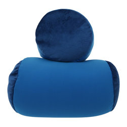 Living Healthy Products - Microbead roll bolster squish -  Dark Blue - Great for relieving stress, cat naps or power naps on the sofa, in bed, under your desk at work or on planes, trains and automobiles. Cushtie Cushion is the most amazing squashable, squishable, cuddleable, hugable pillow you will ever feel. Cushtie Cushion has a gorgeously soft, smooth, stretchy covering and is filled with thousands of tiny super-soft polystyrene micro-granules. Words cannot describe how lovely and smooshable it is. Everyone who gets hold of the Cushtie Cushion is amazed by its squishability and squeezability and they think its the nicest, playful pillow they have ever touched.-Great for sleeping or traveling. Dimensions: -6.1'' H x 8.2'' W x 13.7'' D, 0.8 lb.