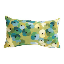 "Trans-Ocean - Pansy Lime Pillow - 12""X20"" - The highly detailed painterly effect is achieved by Liora Mannes patented Lamontage process which combines hand crafted art with cutting edge technology.These pillows are made with 100% polyester microfiber for an extra soft hand, and a 100% Polyester Insert.Liora Manne's pillows are suitable for Indoors or Outdoors, are antimicrobial, have a removable cover with a zipper closure for easy-care, and are handwashable."