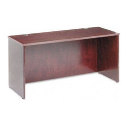 Basyx - Veneer Credenza Shell with Beaded Edge Detail - Your desk.This is the place where you want to feel organized, stay focused, make good decisions and watch your business grow. Every desk you purchase has to become a part of your success. Basyx understands this balance and embodies it within each desk theycreate. Beaded edge detailing provides a classy, clean look for any office and a wide range of pieces enable you to coordinate your entire business space! Outfit your office with the Basyx -Simple, Clear, Easy. Features: -Credenza shell.-With beaded edge detail.-Veneer tops are hand rubbed to a lustrous sheen.-Durable 1.5'' thick tops.-Complete with two standard black grommets in the top and one pass through grommet in the top center of the modesty panel.-Attractive beaded edge detail.-Full height modesty panels.-Adjustable floor leveling glides provide 0.5'' of adjustment.-Hardwood veneer multi-step finishing process.-Distressed: Yes.-Collection: Veneer.Dimensions: -Overall dimensions: 29'' H x 60'' W x 24'' D.-Approximate weight: 143 lbs.-Overall dimensions: 29'' H x 72'' W x 24'' D.-Approximate weight: 148 lbs.-Overall Product Weight: 143 - 148 lbs.Warranty: -Performance backed by a 5 year warranty.