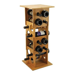 True Frabrication - Deco Tower Stackable Wine Rack by True Fabrication - Our gorgeous durable deco tower - Stackable Bamboo Wine Rack has the finest details and highest quality you will find anywhere! Durable Deco Tower - Stackable Bamboo Wine Rack is truly remarkable.