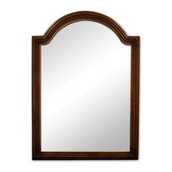 Hardware Resources - Hardware Resources MIR029 Wood Mirror - 26 in  x 36 in  Walnut reed-frame mirror with beveled glass
