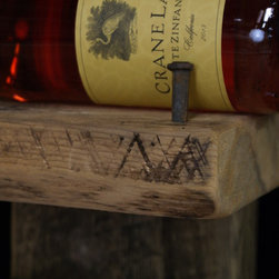 RECLAIMED WOOD WINE RACKS - Antique square nails
