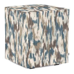 Howard Elliott Monet Water Universal Cube Ottoman - The Monet Cube is the perfect artistic touch for any and all styles. Their simple design makes them great to use as side tables, ottomans, alternate seating and more.
