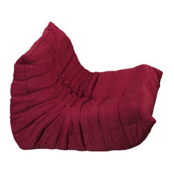 """LexMod - Waverunner Armchair in Red - Waverunner Armchair in Red - Provide natural comfort at every gathering with a balanced set of functional symmetry. Observe as Waverunner interplays ergonomics with dense foam cushioning to precisely reflect full relaxation. Wander through the pathways of elucidation with a multi-layered environment of intricate folds and holistic positioning. Set Includes: One - Waverunner Modular Chair Perfect for living room or lounge, Covered in easy-care microfiber, Ground level Density foam, Sold as a set or individually Overall Product Dimensions: 36""""L x 33""""W x 26""""H Seat Height: 13""""H - Mid Century Modern Furniture."""