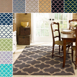 Nuloom - nuLOOM Handmade Alexa Moroccan Trellis Wool Rug (7'6 x 9'6) - Invoke the feel and warmth of a country home with this stunning woolen hand-hooked rug. Meticulously made using a petit point stitches construction,this Moroccan inspired pattern will make your favorite space feel right at home.