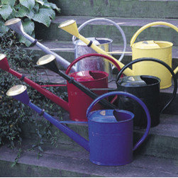 Small Blue Oval Watering Can - Small can has a 1.3 gallon capacity