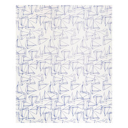 Kimberly Lewis Home - Set Sail Wallpaper Sheet, Light - Get ready for smooth sailing with this nautical-themed wallpaper. Cover the books on your shelf, the back of the shelf or just about anywhere you need a little cool ocean spray.