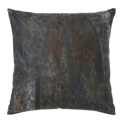 Benzara - Soft Leather Pillow with Plush Filling - This pillow made of real leather is a perfect buy if you're looking for an elegant yet multipurpose pillow. Keep it on your living room sofa and witness the charm it adds to your ambience. You can also place it on your couch for a relaxed time while reading your favorite book or can carry it in your car so that your child sleeps tight and comfortably resting his head on this soft pillow. Whatever be the purpose, this real leather pillow is an intelligent pick by all means. Available in dark bluish- green color, it perfectly complements any interior backdrop and looks graceful. Easy to care and maintain, rest assured of its usability for a years to come.