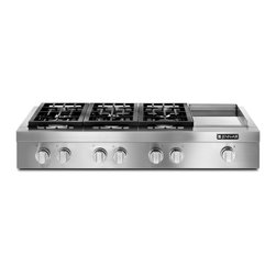 """Jenn-Air 48"""" Pro-style Gas Rangetop With Griddle, Stainless Steel 