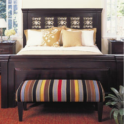 "Classic Home - Florence Panel Bed - Features: -Material: Acacia Wood.-Dark mahogany finish.-Distressed: Yes.-Collection: Florence.Dimensions: -Queen dimensions: 66""H x 86"" W x 67"" D.-King dimensions: 66"" H x 90"" W x 84"" D.-California King dimensions: 66""H x 90"" W x 79"" D.-Overall Product Weight: 340 lbs."