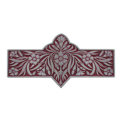 "Inviting Home - Dianthus Pull (antique pewter-cayenne) - Hand-cast Dianthus Pull in antique pewter-cayenne finish; 4-3/8""W x 2-2/8""H; Product Specification: Made in the USA. Fine-art foundry hand-pours and hand finished hardware knobs and pulls using Old World methods. Lifetime guaranteed against flaws in craftsmanship. Exceptional clarity of details and depth of relief. All knobs and pulls are hand cast from solid fine pewter or solid bronze. The term antique refers to special methods of treating metal so there is contrast between relief and recessed areas. Knobs and Pulls are lacquered to protect the finish. Alternate finishes are available. Detailed Description: The Dianthus knobs bring the sophisticated feel the antique homey feel to your cabinets. These pulls will be a great accent to old-world cabinets as well as bringing a polished feel to any antiqued furniture. Sometimes antique finishes end up looking a bit shabby and drabby but installing these knobs will make the cabinets pure chic. It would be a better choice to keep with Dianthus pulls if you would like to use them in conjunction with the pulls. Dianthus knobs are part of English Garden Hardware Collection. Reflecting the meticulous effort that produced these stunning gardens from a bygone era each of the knobs and pulls in this line features individually hand-cast and hand-finished design work. There are soft graceful roses and poppies (McKenna's Rose Knobs and Poppy Knobs) reminiscent of classic beauty and elegance. While other like Dianthus Pulls or Mountain Ash knobs feature crisply detailed styling with colorful background. Each knob's design marries Mother Nature and Craftsmanship into decorative hardware that adds beauty to any room of your home."